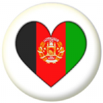 Afghanistan Country Flag Heart 25mm Pin Button Badge